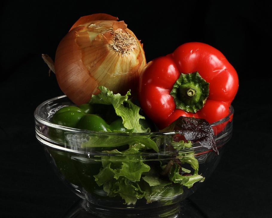 蔬菜,辣椒,洋葱,生菜,沙拉,蔬菜