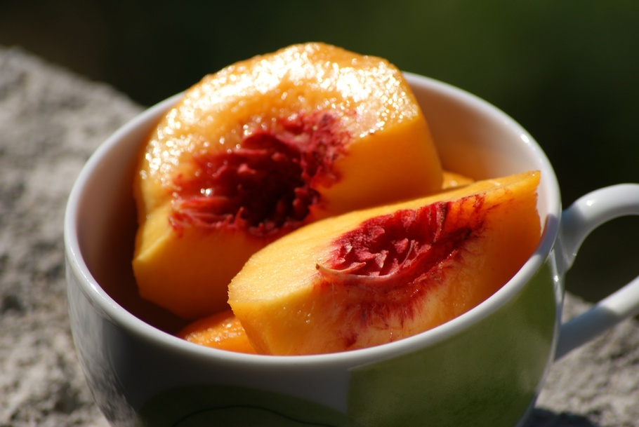 水果,桃子,橙,瘦,食品