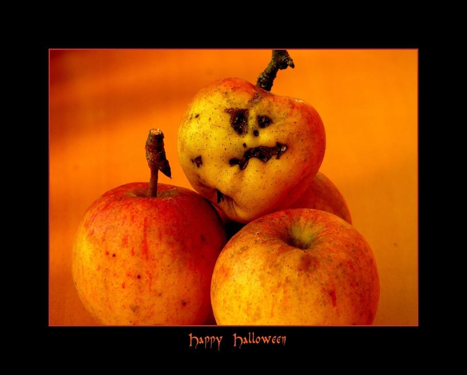 万圣节,时尚,秋景,脸,可笑,苹果,水果,堵嘴